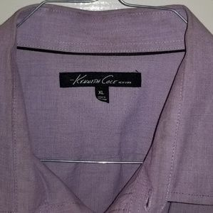 Purple casual button down shirt